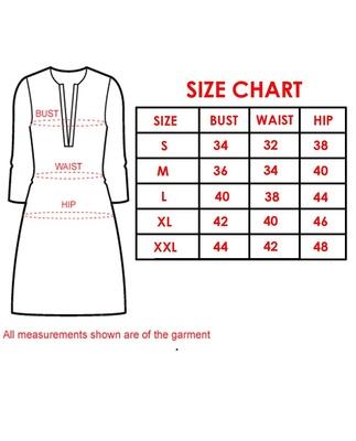 Size chart kvsfab large
