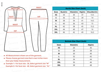 Kurta set sizechart large