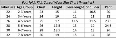 Size chart amazon large