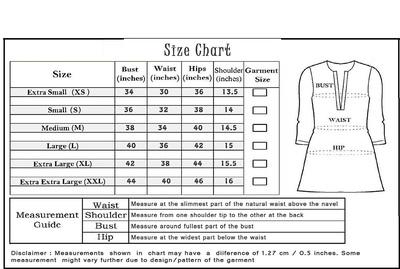 Size chart large