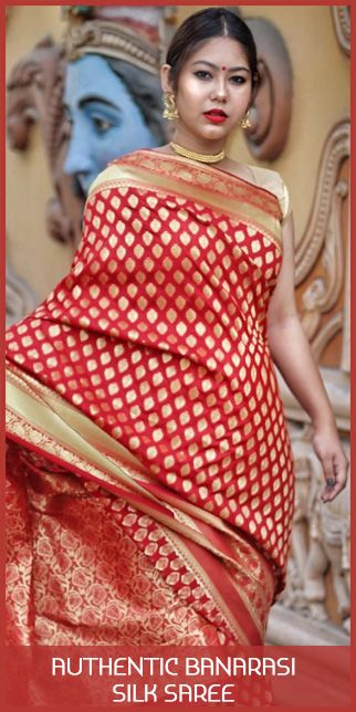 Authentic banarasi silk saree  original sized