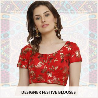 Designer festive blouses original sized