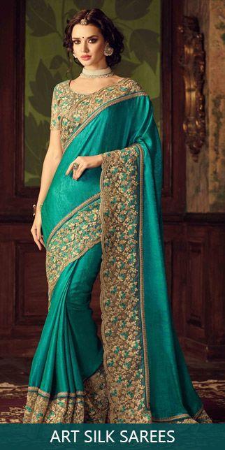 Art silk sarees original sized