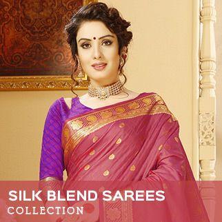 Silk blend sarees original sized