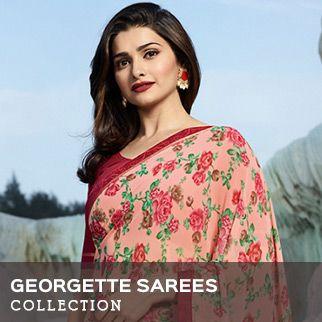 Georgette sarees original sized