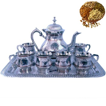 Send Cute Meenakari Royal Tea Set n Dryfruits