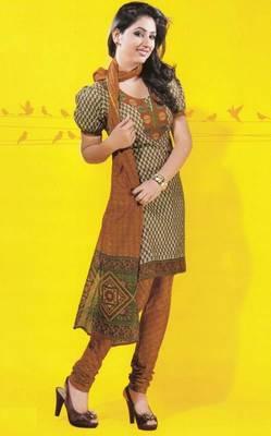 Dress material cotton designer prints unstitched salwar kameez suit d.no 1724