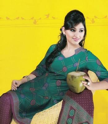 Dress material cotton designer prints unstitched salwar kameez suit d.no 1743