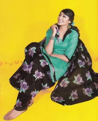Dress material cotton designer prints unstitched salwar kameez suit d.no 1746