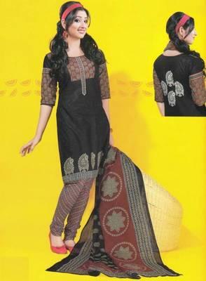 Dress material cotton designer prints unstitched salwar kameez suit d.no 1750