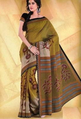 Elegant Mal Mal cotton saree with blouse piece d.no PW103