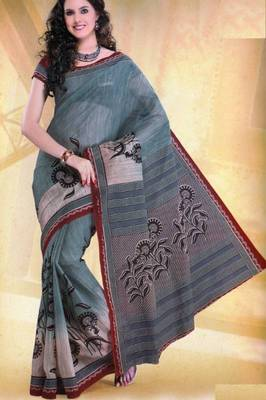 Elegant Mal Mal cotton saree with blouse piece d.no PW104
