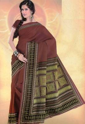 Elegant mal mal cotton saree with blouse piece d.no PW109