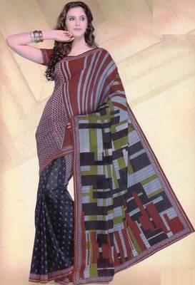 Elegant mal mal cotton saree with blouse piece d.no PW114