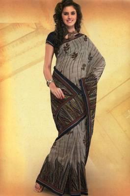 Elegant mal mal cotton saree with blouse piece d.no PW115