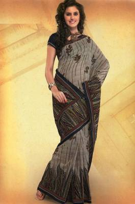 Elegant mal mal cotton saree with blouse piece d.no PW115