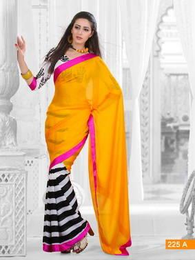 Silk Georgette Party Wear Saree