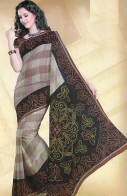 Elegant mal mal cotton saree with blouse piece d.no pw123