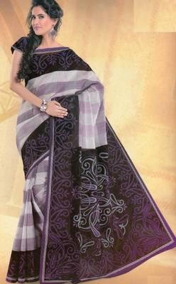 Elegant mal mal cotton saree with blouse piece d.no pw124