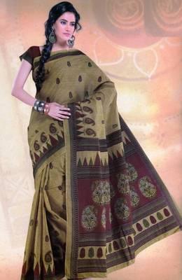 Elegant mal mal cotton saree with blouse piece d.no pw126
