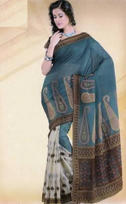 Elegant mal mal cotton saree with blouse piece d.no pw129