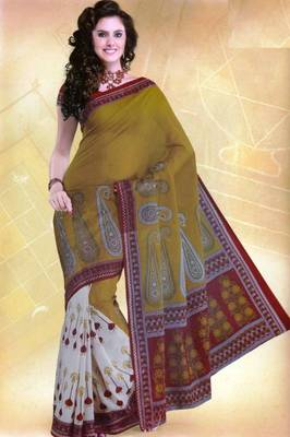 Elegant mal mal cotton saree with blouse piece d.no pw130
