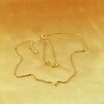 """gold micro platted chain size-20"""""""