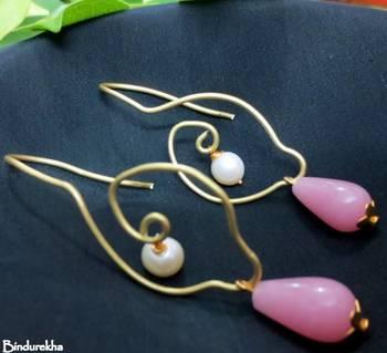 Brass_Wirework_Pink_Drop_Pearl_Latkan_Earrings
