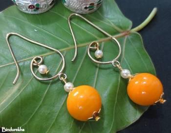 Designer_Hook_Mango_Ball_Earrings