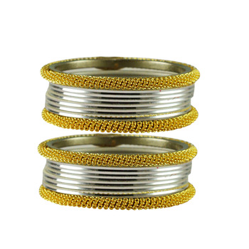 Silver  Color Brass Bangle