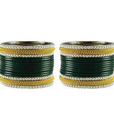 Buy Green  color Acrylic and Brass bangle bangles-and-bracelet online