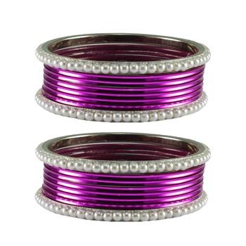 Purple  Color Brass Bangle