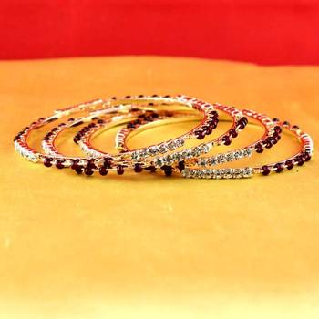 gold moti stone czpolki kundun meenakari pearl bangle kara size-2.6,2.8