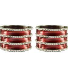 Buy Maroon color Brass bangle bangles-and-bracelet online