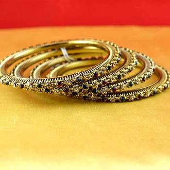 gold moti stone cz polki kundun meenakari pearl bangle kara size-2.6,2.8