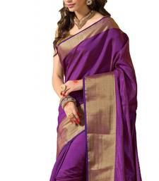 Buy Purple Zari Art Silk saree with  2 blouse diwali-sarees-collection online