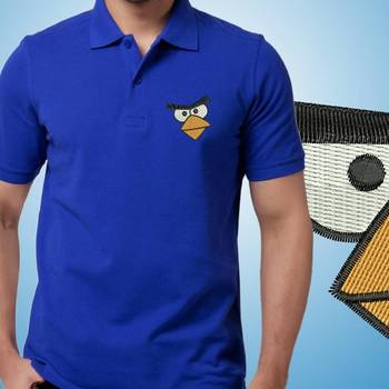 Thayam Angry Game Embroidered Guys Polo T-shirt at Offer, Mens Collar Tshirt