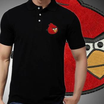 Thayam Angry Face Embroidered Guys Polo T-shirt at Offer, Mens Collar Tshirt