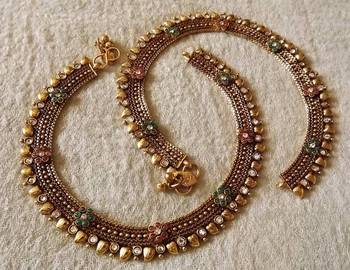 Antique Payal in Gold