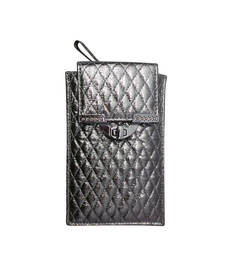 Buy Quilted Mobile Cover (Dark Silver) wallet online