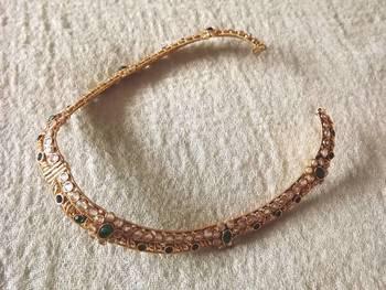 Antique Anklet in Copper & Kundan