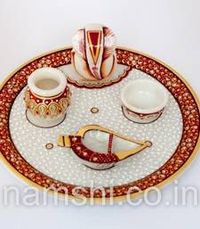 Buy Diwali Marble pooja thali other-home-accessory online