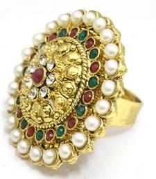 Multicolour Bridal Polki Ring