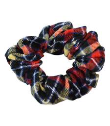 Buy Checked Multicolour Fabric Hair Rubber Band for Women rubber-hair-band online