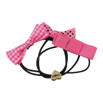 Multilayered Black Fabric Hair Rubber Band for Women