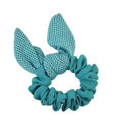 Buy Plain Green Fabric Hair Rubber Band for Women rubber-hair-band online