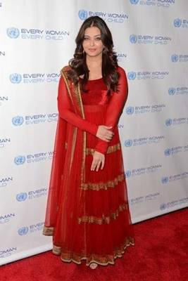 Beautiful Red Gown style Aishwarya Rai Anarkali Suit