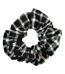 Buy Checked Black Fabric Hair Rubber Band for Women Other online