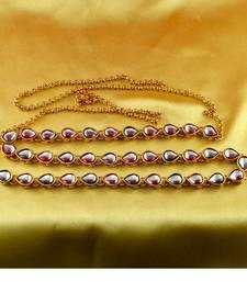 Kamrbundh kankti gold platted stone meenakri cz ad moti pearl polki kundun