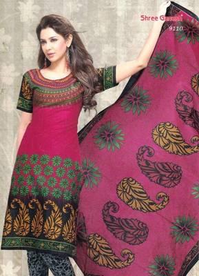Dress Material Cotton Designer Prints Unstitched Salwar Kameez Suit D.No SG9110